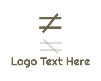 Mathematics - Unequal Icon logo design