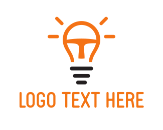 Orange Light Bulb Logo