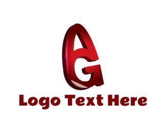 Red - Red A & G logo design