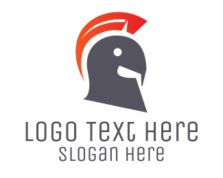 Headgear - Spartan Helmet logo design