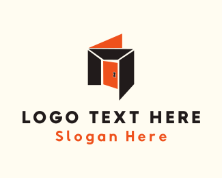 Keyhole - Orange Room logo design