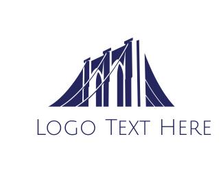 Structure - Blue Bridge Construction logo design