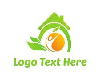 Juice - Organic House logo design