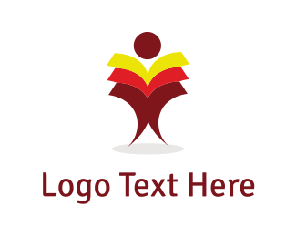 Page - Books Man logo design