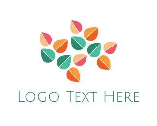Fall - Minimalist Leaves logo design