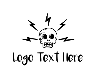 Gang - Electric Skull logo design