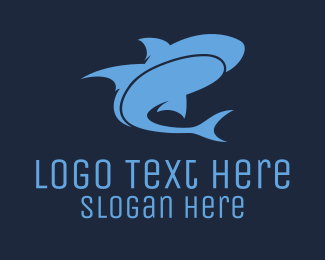 Water - Blue Shark  logo design