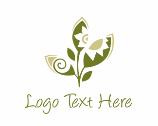 Tropical - Green Crafty Leaf logo design