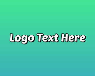 Teenager - Funky  Blue logo design