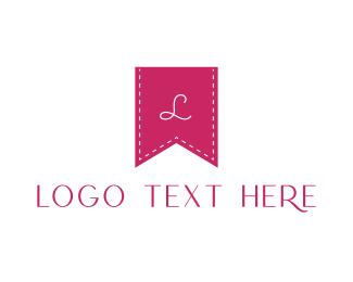 Textile - Pink K Flag logo design