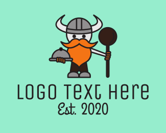 Eating - Viking Cook logo design
