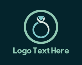 Jewellery - Blue Ring logo design