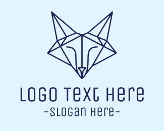 Minimalist - Diamond Fox logo design