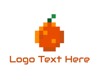 Web Design - Orange Pixel logo design