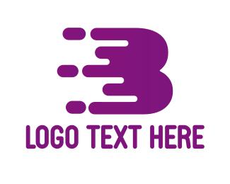 Bake - Purple B Paint logo design