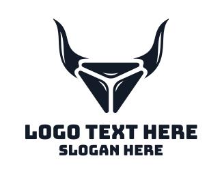Bison - Bull Diamond logo design