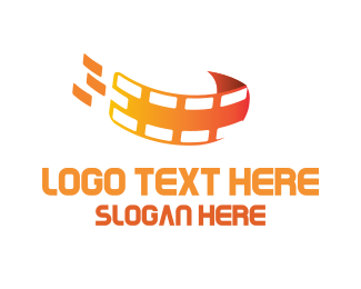 Filmstrip - Orange Filmstrip logo design