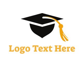 Cap - Square Academic Cap logo design