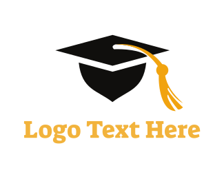Teach - Square Academic Cap logo design