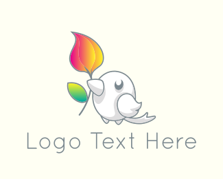 Kindness - Cute Little Bird logo design