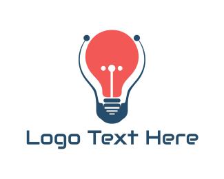 Bulb - Red Bulb logo design