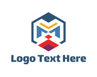 Geometric - Geometric M logo design