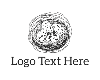 Nest - Black Nest logo design