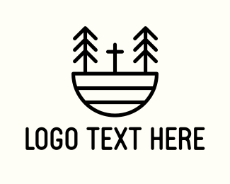 Church - Forest Church logo design