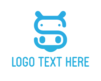 Hippo Letter S Logo