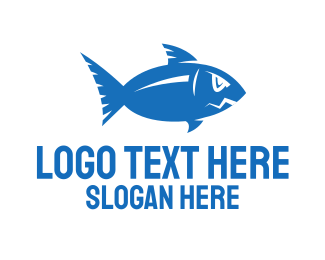 Furious - Blue Fish logo design
