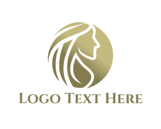 Girl - Golden Woman logo design