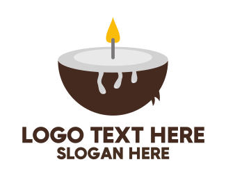 Candle - Coconut Candle logo design