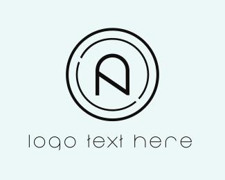 Centered - Circle Letter A logo design