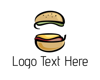Hamburger - Beef Burger logo design