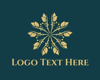 Golden - Golden Flower logo design