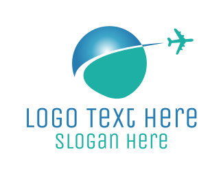 Earth - Global Travel logo design