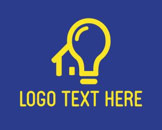 Light Bulb - House Light logo design