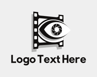 Filmstrip - Eye Shutter logo design