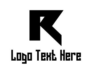Gothic - Black Letter R logo design
