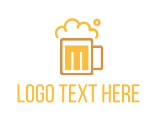 Ale - Beer M logo design