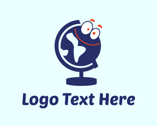 World - Globe Cartoon logo design