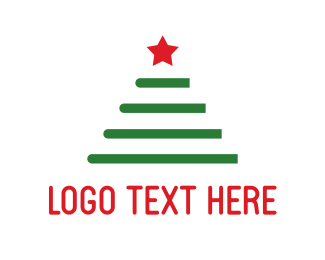 Winter - Christmas Tree logo design