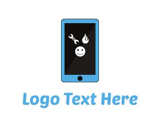 Repair - Smartphone Repair logo design