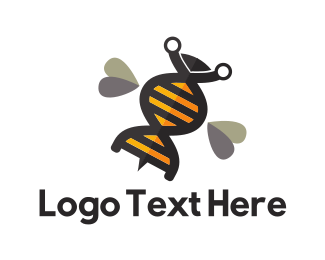 Genetics - Genetic Bee logo design