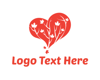Maple - Tree Heart logo design