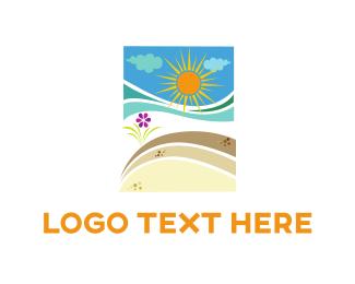 Sand - Beach Sunshine logo design
