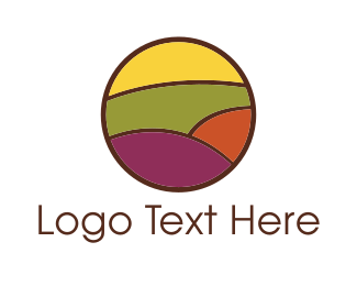 Agronomy - Colorful Field logo design