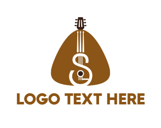 Acoustic - Guitar Strings logo design