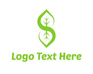Vegetarian - Letter S Leaf logo design
