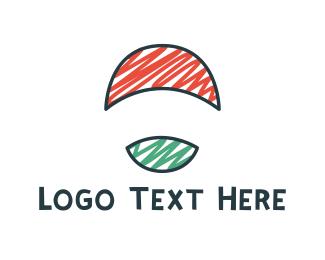 Sketch - Round Flag logo design
